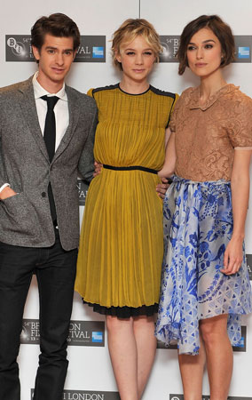 Keira, Carey & Andrew at 'Never Let Me Go' Shoot (PHOTOS)