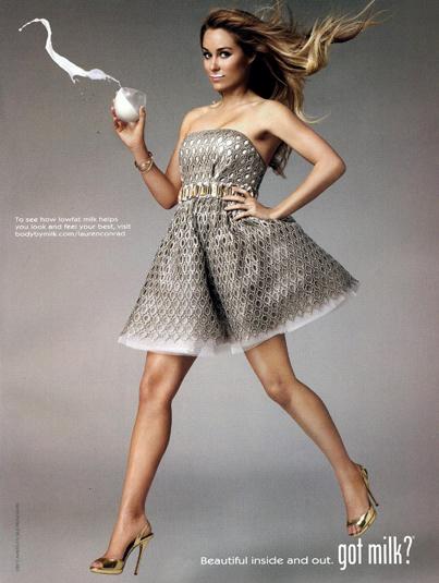 Lauren Conrad Goes Golden For 'Got Milk'