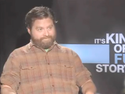 Interviewer Beats Zach Galifianakis at His Own Game (VIDEO)-photo