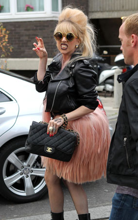 Lady Gaga Gets Hairy in London (PHOTOS)
