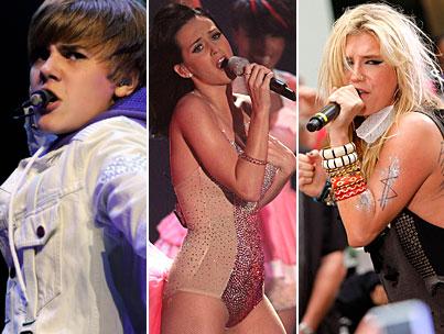 Bieber, Perry and Ke$ha to Rock the AMAs