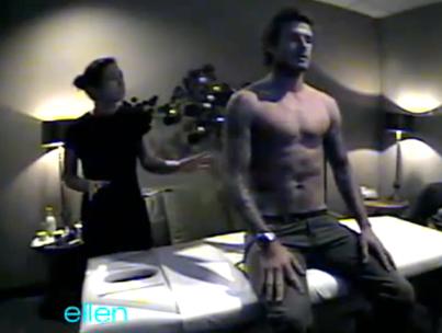 David Beckham Pranks Masseuse on 'Ellen' (VIDEO)