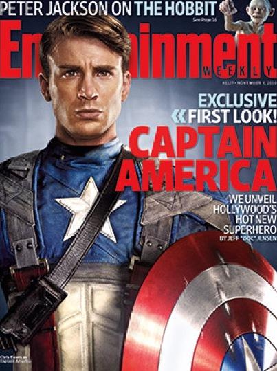 Chris Evans as Captain America: First Look
