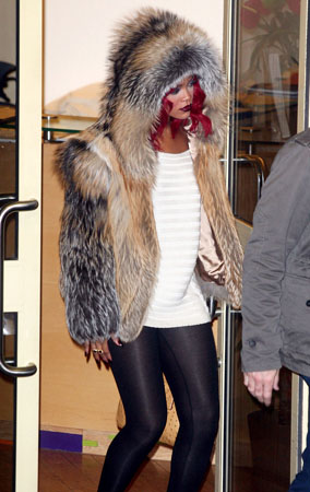 Rihanna Lets the Fur Fly in London (PHOTOS)