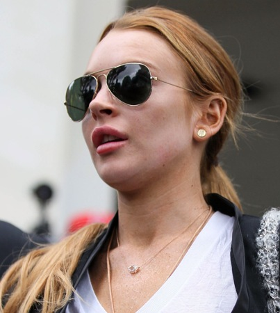 Lindsay Lohan Gets Her Halloween Candy in Rehab