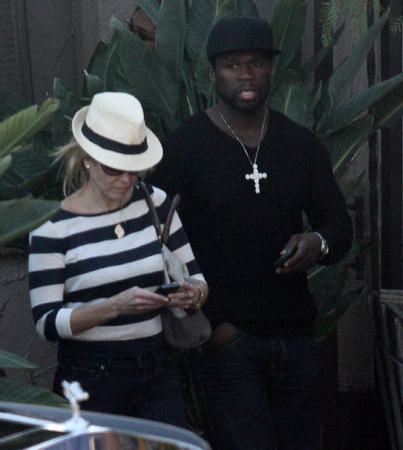 Chelsea Handler and 50 Cent Spotted Out Again