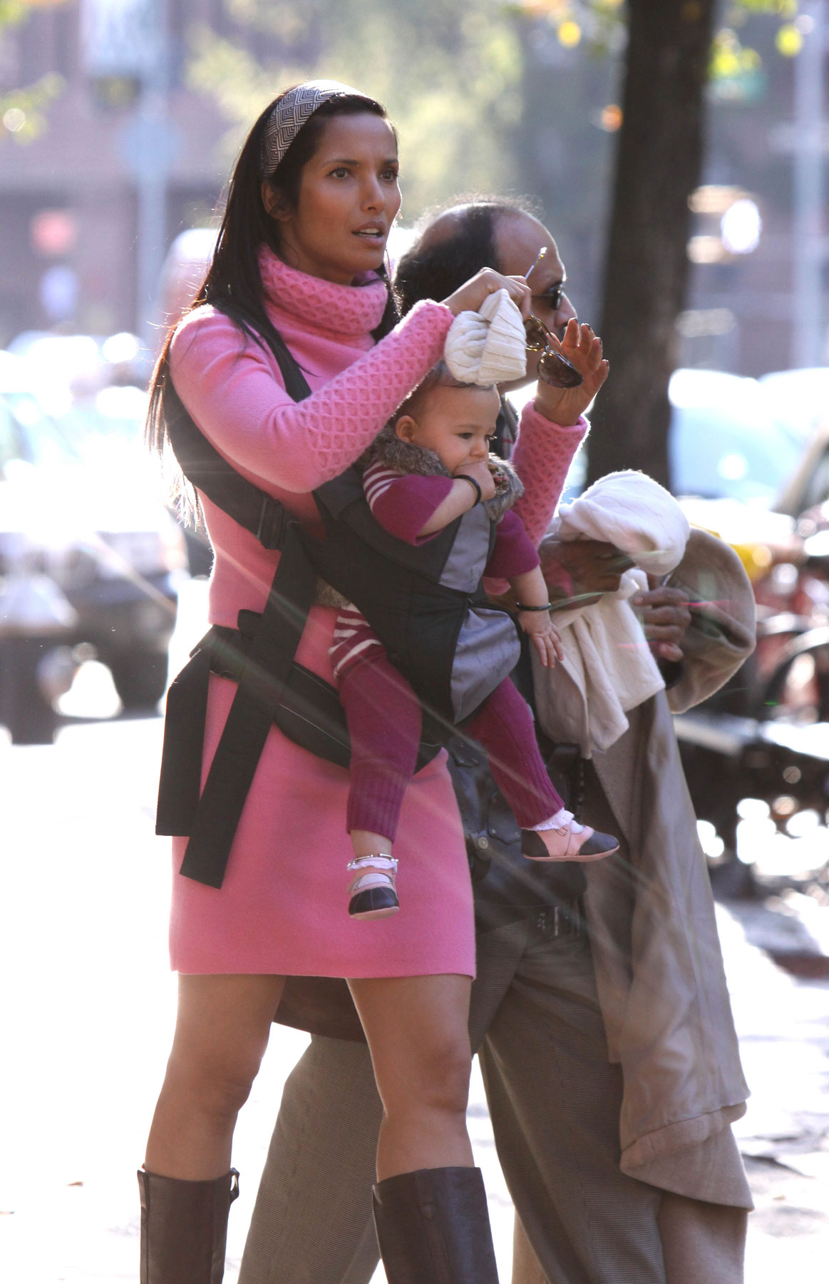 Padma Lakshmi & Baby Hang Out in NYC (PHOTOS)