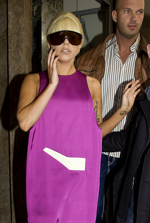 Lady Gaga Sports Yoga Couture (PHOTOS)
