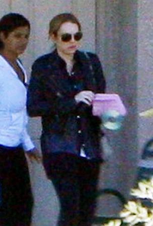 Lindsay Lohan at Her Sober House (PHOTOS)