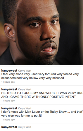 Kanye West Goes on Anti-'Today' Twitter Tirade (PHOTOS)