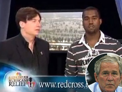 George W. Bush Pardons Kanye West for Katrina Gaffe