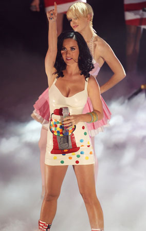 Katy Perry Rocks a Gumball Dress (PHOTOS)