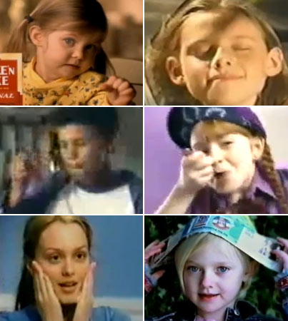 Today's Stars as Kids in Commercials (VIDEOS)