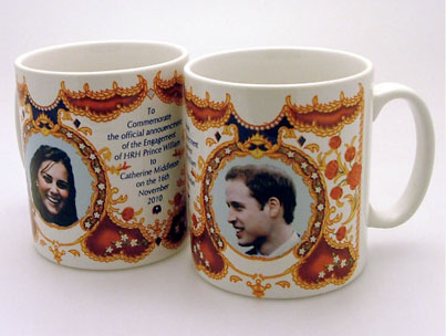 Royal Engagement Mugs Already Up for Sale