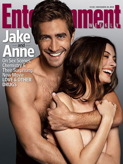 Jake Gyllenhaal & Anne Hathway Get Naked for 'EW'