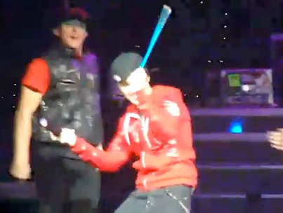Justin Bieber Bangs the Cowbell (VIDEO)