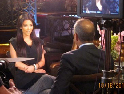 Kim Sits Down with Matt Lauer for Thanksgiving Night Special