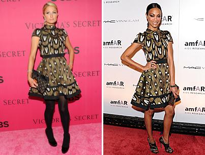 Paris Hilton vs. Zoe Saldana: Who Wore It Better?-photo