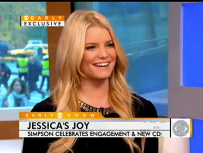 Jessica Simpson Talks Engagement on 'The Early Show'