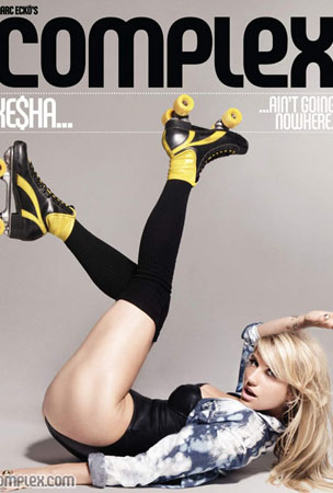 Ke$ha Skates By in 'Complex' Magazine (PHOTOS)