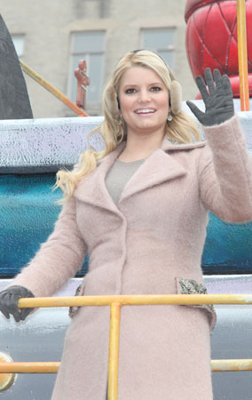 Jessica Simpson at the 84th Annual Macy's Thanksgiving Day Parade