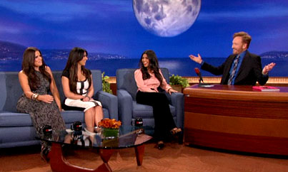 The Kardashians Talk Twitter and 'Jeggings' with 'Conan' (VIDEO)