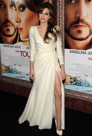 Angelina Jolie and Ladies in White Dresses (PHOTOS)