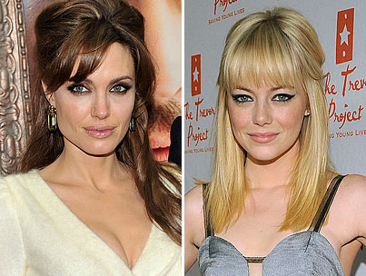 Golden Globes 2010 Battle: Emma Stone vs. Angelina Jolie