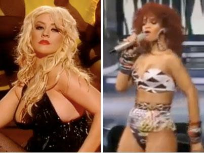 Rihanna & Christina Aguilera Under Investigation For Sexy Performances