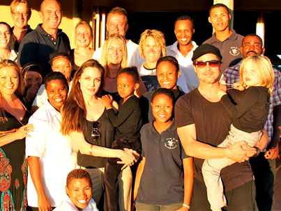 Angelina Jolie and Brad Pitt Bring Shiloh Home for Namibian Christmas