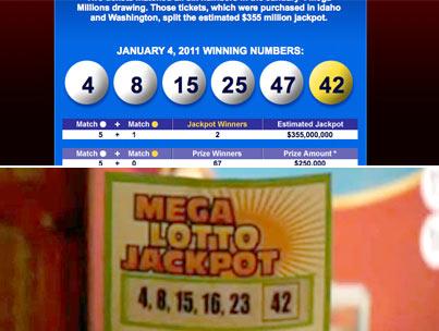 Mega Millions Jackpot Mirrors 'Lost' Numbers