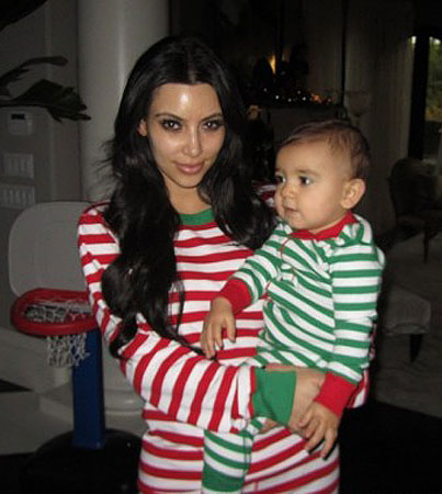Check Out Kim Kardashian's Christmas Pajamas!