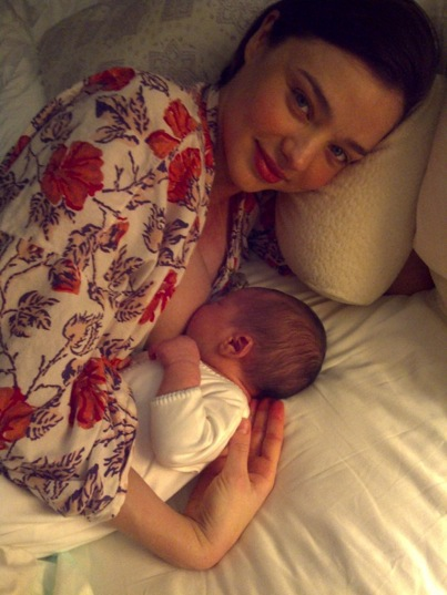 Miranda Kerr Reveals Baby Photo and Baby Name