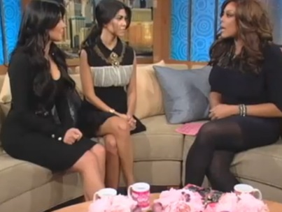 Kim and Kourtney Kardashian Dish to Wendy Williams